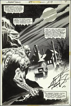 Bernie Wrightson, Swamp Thing #4, page 4.