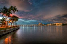 West Palm Beach sunset...