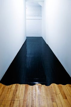 okay. this does look awesome but why on earth would you ever cover a hard wood floor with shiny black paint D: