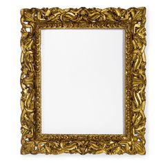 An Italian baroque giltwood frame Florence, 17th century with a gadrooned border surrounded by scrolling foliage. Sotheby's