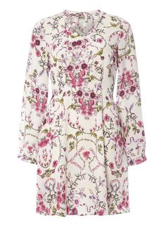 **Vero Moda Pink Floral Print Skater Dress