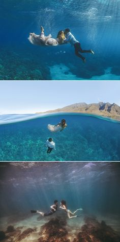Fearless Love! 37 Adventurous Engagement Photos That Will Take Your Breath Away! Underwater Ideas!