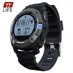 GPS Sport Smart Watch, MOREFINE Bluetooth Bracelet Fitness Activity Tracker Waterproof Wristband for Android IOS Real-time Heart Rate Height Race Monitor Air Pressure Environment Temperature Measure Fitness Watches For Women, Watches For Men, Gps Fitness Tracker, Fitness Monitor, Fitness Goals, Fitness Tips, Digital Sports Watch, Digital Watch, Watch For Iphone