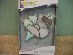 SWITCHABLES Stained Glass Nightlight w/base - MORNING GLORY