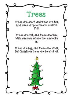 The Very Busy Classroom: Free Poem about Christmas Trees