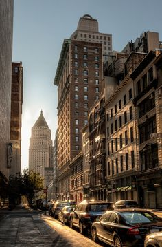 A New York Morning, streets, lights, Manhattan, NYC The Places Youll Go, Places To Go, New York City, Streets Of New York, Nyc Streets, City Aesthetic, Empire State Of Mind, Hdr Photography, Street Photography