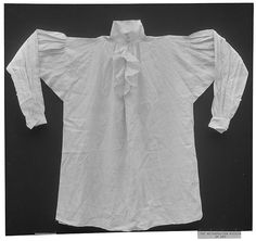 Shirt early 19th century British Dimensions: L. 41 inches (104.1 cm)