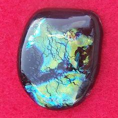 Dichroic Glass Cabochon  Handmade Beautiful by by JewelryArtistry, $17.00