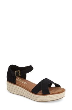 Free shipping and returns on TOMS Harper Platform Sandal (Women) at Nordstrom.com. An espadrille platform plays up the vintage-chic style of a breezy wedge sandal completed with signature TOMS embroidery at the heel.