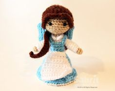 PATTERN Instant Download Belle French Village Beauty and the Beast Crochet Doll Amigurumi Disney Princess