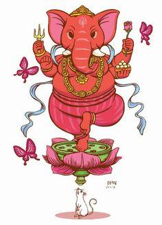 Religion & Co Jai Ganesh, Ganesh Lord, Ganesha Tattoo, Ganesha Art, Indiana, Lord Ganesha Paintings, Hindu Deities, God Pictures, Hindu Art