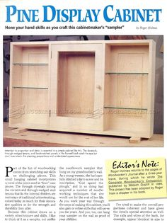 Wall Display Cabinet Plans - Furniture Plans