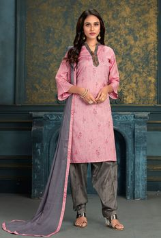 #Cotton #fabric is the #best #fabric in any #weathers, cotton #salwar #kameez is the best choice for any #girls or #womens, #Nikvik is the #bestseller of cotton salwar #suits in #USA #AUSTRALIA #CANADA #UAE #UK Cotton Salwar Kameez, Churidar Suits, Patiala, Anarkali Suits, Light Pink Color, Bride Look, Best Sellers, Sari, Coat
