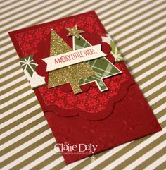 Stampin Up Lots of Joy Gift Card / Festival of Trees Gift Card Holder by Claire Daly SU Demo Australia