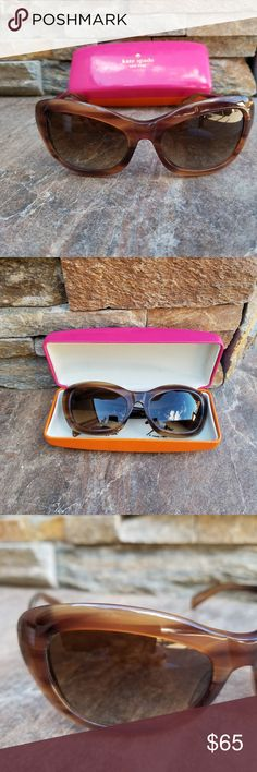 bcd28e89c1460 Kate Spade Meghan Sunglasses Brown Cateye