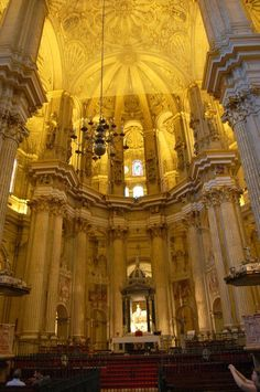 Málaga Cathedral, Málaga, Spain — by Neil Peel. The Height and light really make this an impressive building. Religious Architecture, Beautiful Architecture, Cadiz, Tenerife, Malaga City, Valencia, Spain Culture, Cathedral Basilica, Cruise Europe