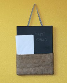 Project for this weekend - Chalkboard paint & fabric on a canvas.