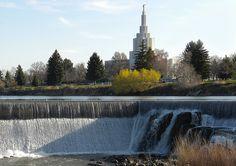 Idaho Falls Mormon Temple - http://www.everythingmormon.com/idaho-falls-mormon-temple/  #mormonproducts #LDS #mormonlife