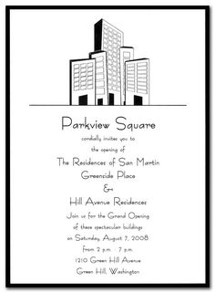 Downtown - Corporate Invitations by Invitation Consultants. (Item # CC-FD1157-87-CITY )