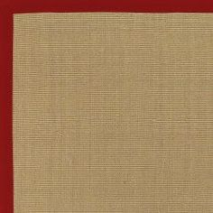 Town Tan and Red Cotton Border Rug (5' x 7'9) or this..