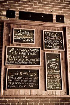 menu boards
