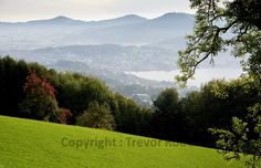 Gmundnerberg - View of the misty mountains