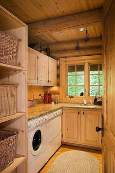 Laundry room.  This would be cool to do if we put door in dining area & closed off laundry room