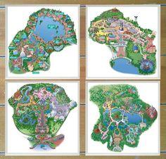 Walt Disney World Map Coasters