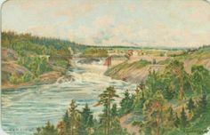 Kunstnerkort tidlig 1900-tall reklame for Hotell Gran Bolkesjø på baksiden
