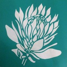 Suikerbos Protea AThe stencil is cut from stencil vinyl, with a self-adhesive backing. Stencil Vinyl, Stencil Painting, Ceramic Painting, Stenciling, Protea Art, Protea Flower, Stencil Patterns, Stencil Designs, Flower Silhouette
