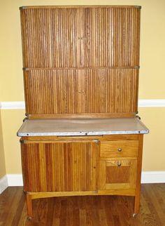 Antique TIPPECANOE Restored Oak Kitchen Cabinet Hoosier Cupboard