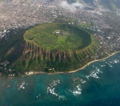 Diamond Head Crater on Oahu Island, Hawaii
