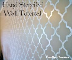 Creative Mommas: Stenciled Wall