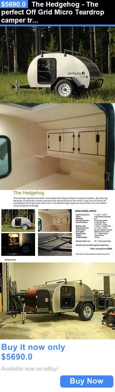 rvs: The Hedgehog - The Perfect Off Grid Micro Teardrop Camper Trailer For Cars And Utv BUY IT NOW ONLY: $5690.0