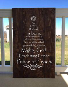 Scripture Tree  Wood Sign  Christmas Tree  Hand Painted #Christmastree #sign #wood #woodensign #farmhouse #christmas #gift #scripture #namesofJesus #nativity #tree