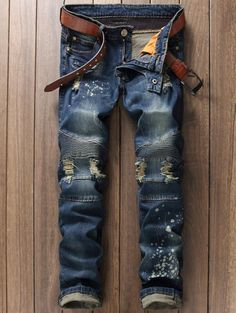 Cheap jeans pants, Buy Quality jeans pant brands directly from China jeans mens denim Suppliers: Famous Brand Distressed Motorcycle Jeans Men Denim Hiphop Joggers Ink Splash Designer Slim Fit Ripped Biker Skinny Jeans Pants Ripped Jeans Men, Biker Jeans, Jeans Pants, Denim Jeans, Jeans Shoes, Skinny Jeans, Motorcycle Jeans, Cheap Jeans, European Fashion
