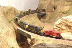 N-Scale Santa Fe locomotives