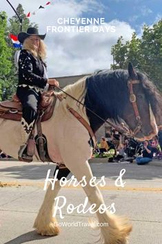 Horses, rodeo, parades and more at Cheyenne Frontier Days in Cheyenne, Wyoming. READ THE TRAVEL JOURNAL Cheyenne Rodeo, Cheyenne Wyoming, Travel Images, Travel Pictures, Cheyenne Frontier Days, Family Travel, Group Travel, Roadtrip, Travel And Leisure