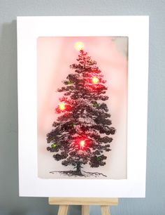 Light up your holidays with this stamped LED Christmas Tree card! Christmas Tree Cards, Christmas Diy, Holiday Lights, Christmas Lights, Seasonal Decor, Holiday Decor, A Table, Light Up, Invitations