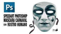 Speedart Photoshop crear y pintar máscara carnaval by @ildefonsosegura