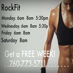 Our NEW RockFit schedule at World Gym Desert Cities at Westfield Palm Desert! If you haven't tried it, call 760.773.5711 to claim your FREE WEEK! Your NEW, sexy body will thank you! #sexybeast #fitness #totalfitness #weightloss #HIIT #RockFit #WorldGym