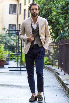 Nice style via Parfait Gentleman. SCORPARIA ♥