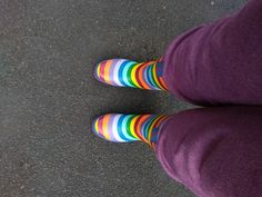 Spotted on our Facebook feed (tagged #MyEvercreatures) the lovely Rainbow Tall Boots on proud display. Loving the look and loving your style! Thanks! #wellies #funkywellies #fashion Funky Wellies, Wellies Rain Boots, Girl In Rain, Facebook Feed, Mould Design, Funky Design, Tall Boots, Color Pop, Cool Style