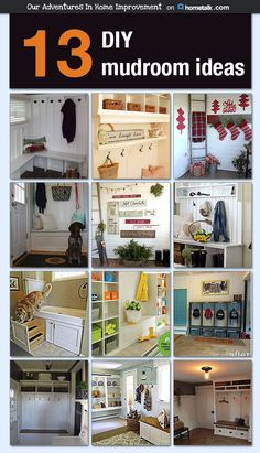 No more messy mudrooms! Keep your mudroom neat and tidy with these brilliant mudroom ideas!