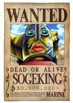 Poster One Piece Wanted Sogeking Anime One Piece, One Piece Ace, One Piece Luffy, Otaku Anime, Manga Anime, Wanted One Piece, One Piece Bounties, Tsurezure Children, One Peace