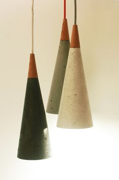 These unique concrete cone lamps are industrial but gorgeous and practical. #etsy #homepolish