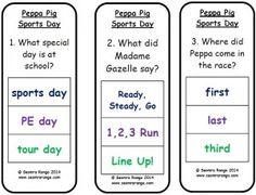 Peg Comprehension: Peppa Pig Sports Day