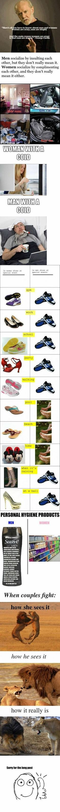 Difference Between Men And Women. This is soo true/