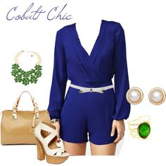 cobalt chic, created by zinagirl on Polyvore