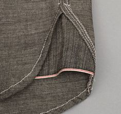 Interesting deep hem gusset using the selvedge.  HEAVY CHAMBRAY WORK SHIRT, BLACK :: HICKOREE'S